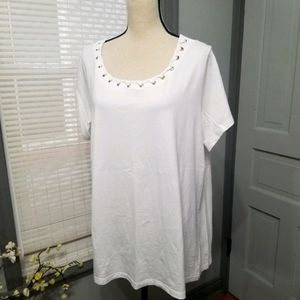 Avenue Laced Up Neckline Your Tee